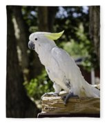 Cockatoo White Parrot Fleece Blanket
