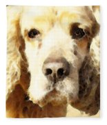 Cocker Spaniel Art - Mellow Yellow Fleece Blanket