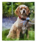 Cocker Spaniel Outside 04 Fleece Blanket