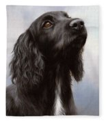 Cocker Spaniel Painting Fleece Blanket
