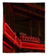 Cocktails In Neon Fleece Blanket