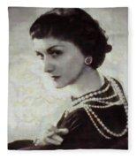 Coco Chanel Fleece Blanket
