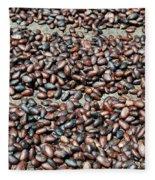 Cocoa Beans Fleece Blanket