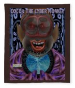 Cocoa The Cyber Monkey Fleece Blanket