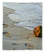 Coconut On The Sand Fleece Blanket