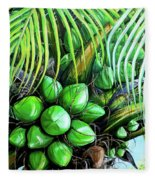 Coconut Tree   Sold Fleece Blanket