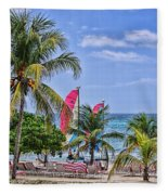 Coconut Tree Fleece Blanket