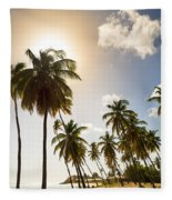 Coconut Trees Fleece Blanket