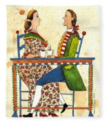 Coffee And Conversation Fleece Blanket