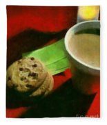Coffee And Cookies At The Cafe Fleece Blanket