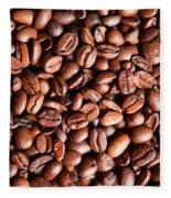 Coffee Beans  Fleece Blanket
