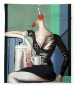 Coffee Break Fleece Blanket