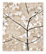 Coffee Brown Leaves Melody Fleece Blanket