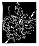 Coffee Flowers 11 Bw Fleece Blanket