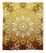 Coffee Flowers 11 Calypso Ornate Medallion Fleece Blanket