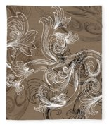 Coffee Flowers 2 Fleece Blanket