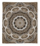 Coffee Flowers 2 Ornate Medallion Fleece Blanket