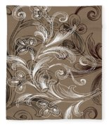 Coffee Flowers 4 Fleece Blanket