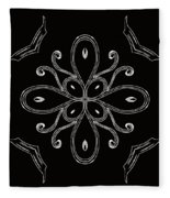 Coffee Flowers 4 Bw Ornate Medallion Fleece Blanket