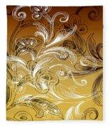Coffee Flowers 4 Calypso Fleece Blanket