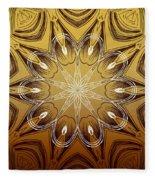 Coffee Flowers 4 Calypso Ornate Medallion Fleece Blanket
