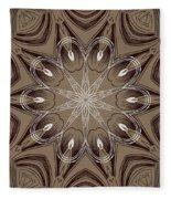 Coffee Flowers 4 Ornate Medallion Fleece Blanket