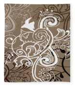 Coffee Flowers 5 Fleece Blanket