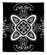 Coffee Flowers 5 Bw Ornate Medallion Fleece Blanket