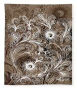 Coffee Flowers 6  Fleece Blanket