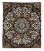 Coffee Flowers 6 Ornate Medallion Fleece Blanket
