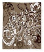 Coffee Flowers 7 Fleece Blanket