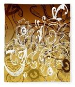 Coffee Flowers 7 Calypso Fleece Blanket