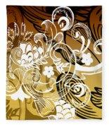 Coffee Flowers 8 Calypso Fleece Blanket