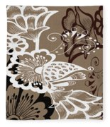 Coffee Flowers 9 Fleece Blanket