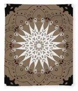 Coffee Flowers 9 Ornate Medallion Fleece Blanket