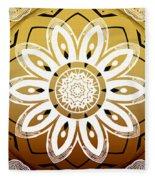 Coffee Flowers Medallion Calypso Triptych 2  Fleece Blanket