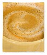Coffee In Yellow Fleece Blanket