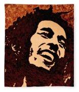 Coffee Painting Bob Marley Fleece Blanket