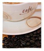 Coffee Rush Fleece Blanket