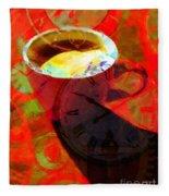 Coffee Time My Time 5d24472m12 Fleece Blanket
