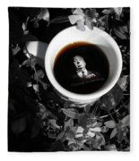Coffee With Alfred Fleece Blanket