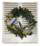 Coffee Wreath Fleece Blanket