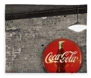 Coke Cola Sign Fleece Blanket