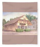 Colchester Train Station Fleece Blanket