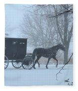 Cold Amish Morning Fleece Blanket