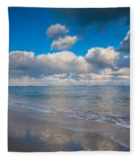 Cold And Windy Beach Day Fleece Blanket
