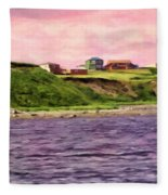 Cold Bay From The Dock Fleece Blanket