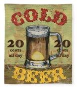 Cold Beer Fleece Blanket