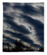 Cold Cloudscape Fleece Blanket