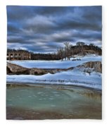 Cold Day At The Beach Fleece Blanket
